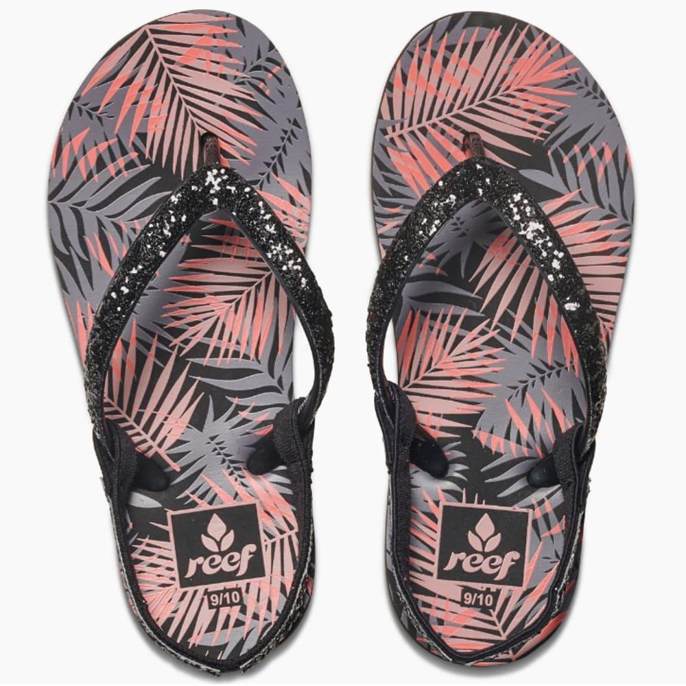 REEF Little Girls' Little Stargazer Prints Sandals - BLACK TROPIC