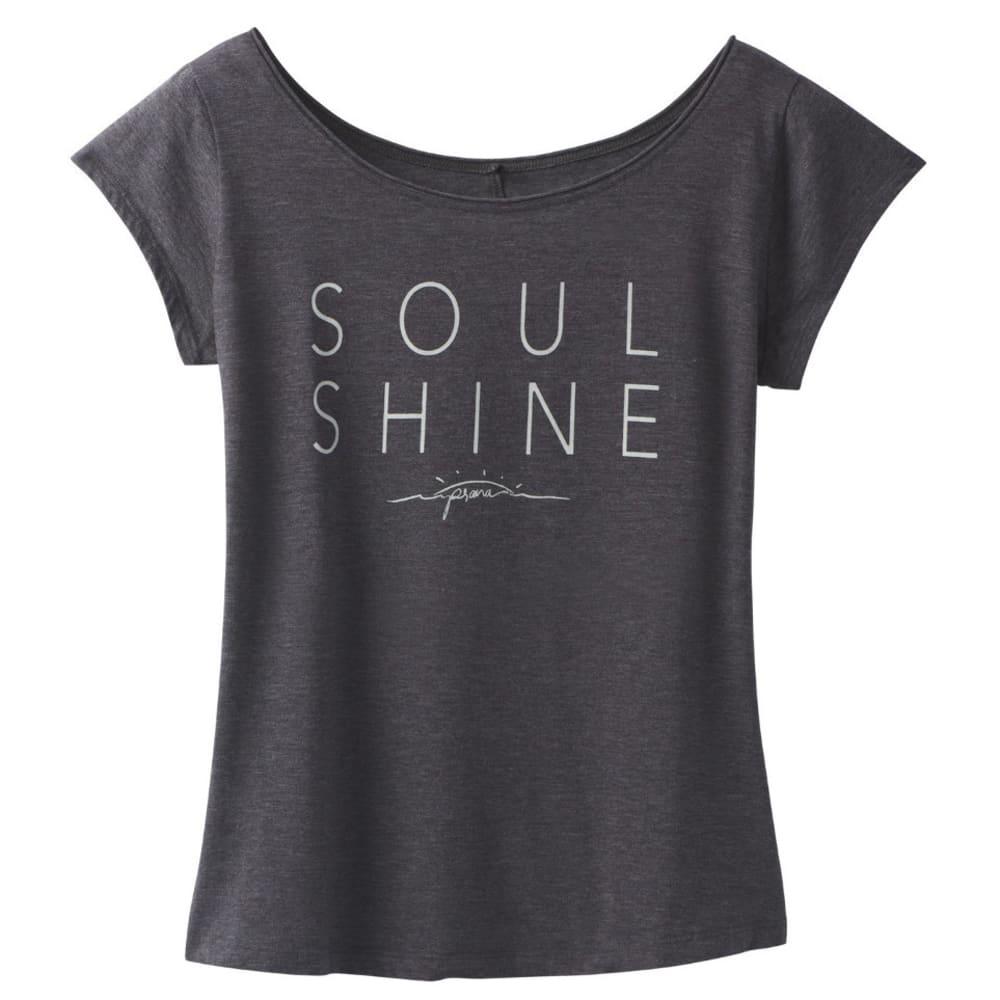PRANA Women's Longline T-Shirt - CHARCOAL HEATHER