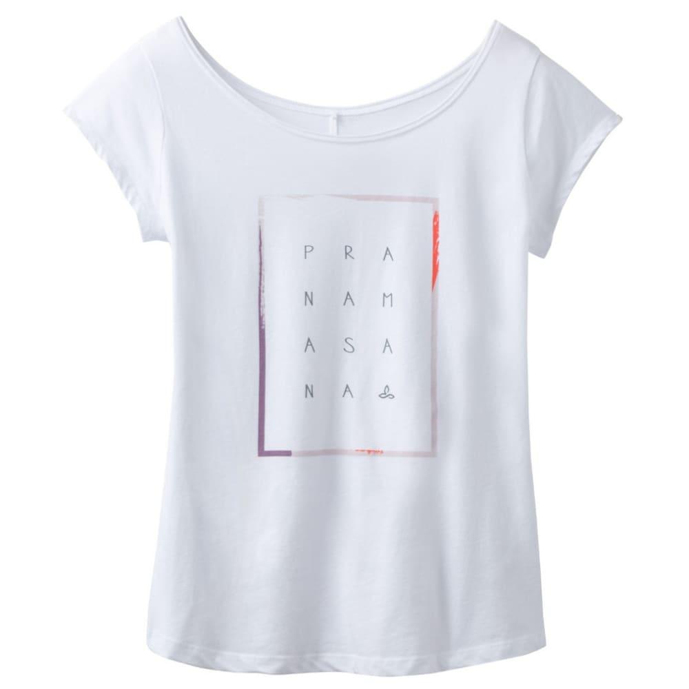PRANA Women's Longline T-Shirt - WHITE