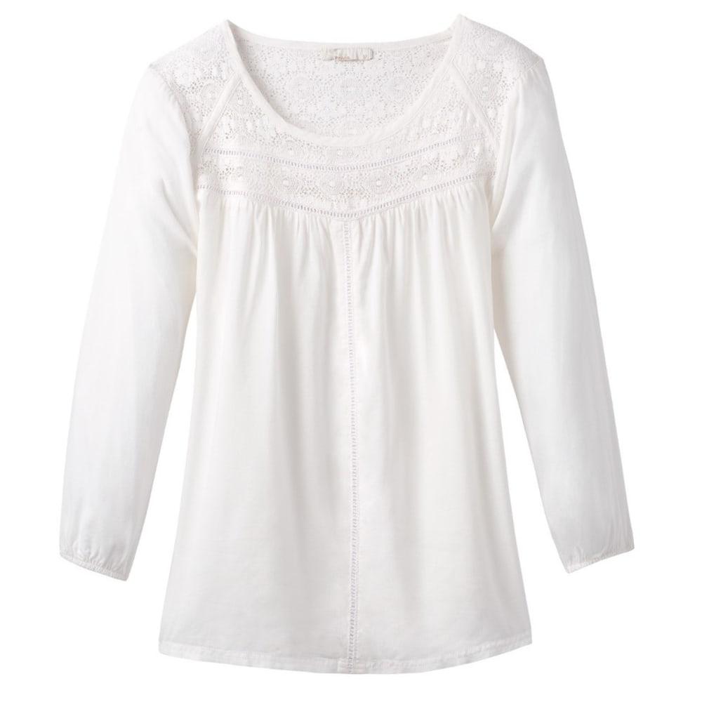 Prana Women's Robyn Top - White - Size L W23170247