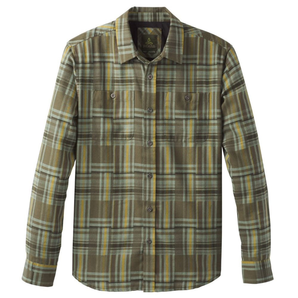 PRANA Men's Stratford Lightweight Flannel - CARGO GREEN