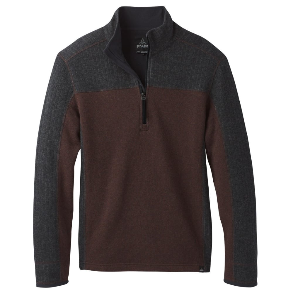 PRANA Men's Wentworth 1/4 Zip Shirt - COCOA