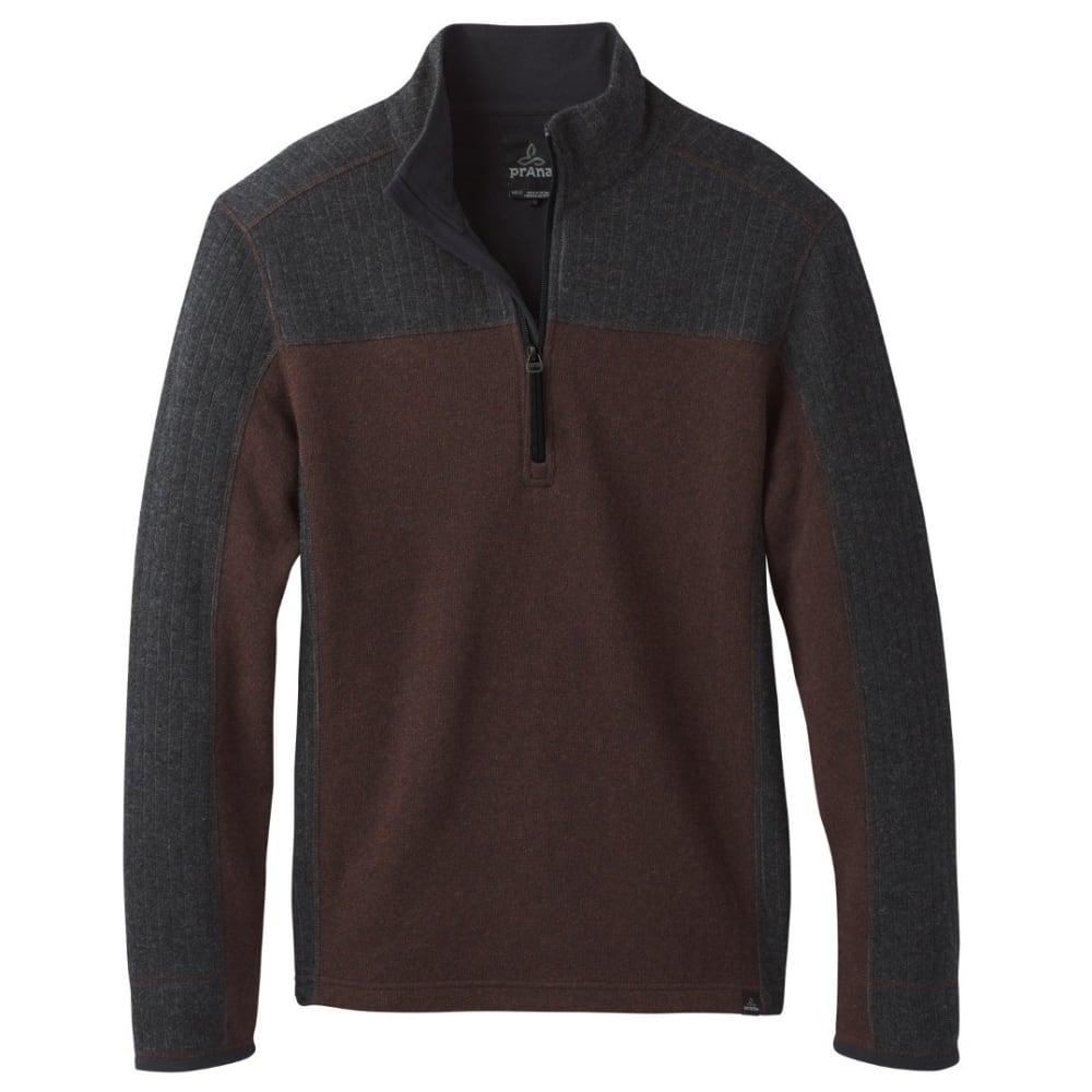 PRANA Men's Wentworth 1/4 Zip Shirt - COCOA