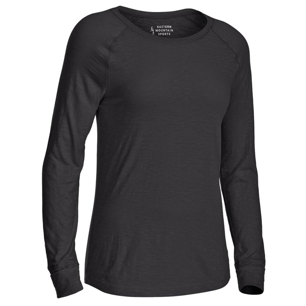 EMS Women's Solid Organic Slub Long-Sleeve Tee - BLACK