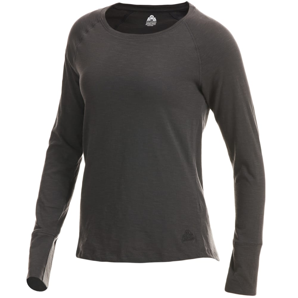 EMS Women's Solid Organic Slub Long-Sleeve Tee XS