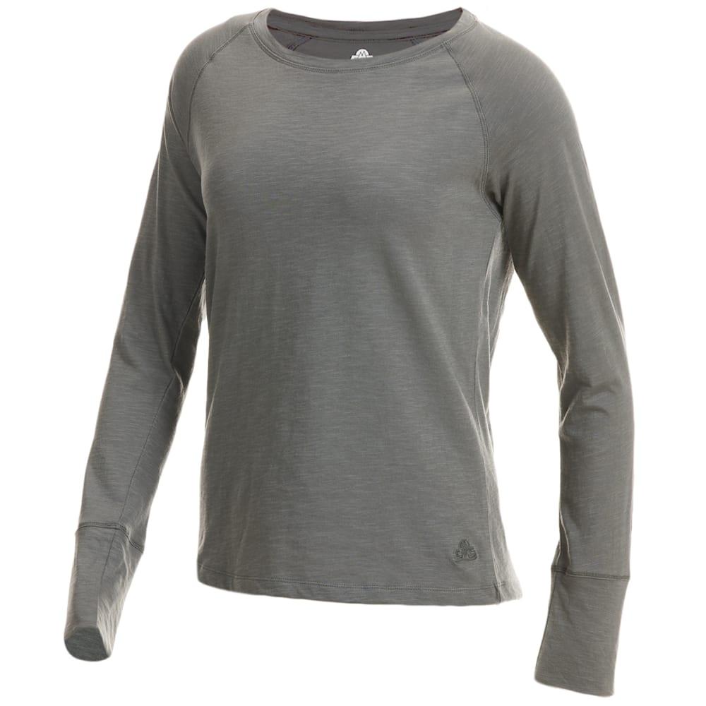EMS Women's Solid Organic Slub Long-Sleeve Tee XL