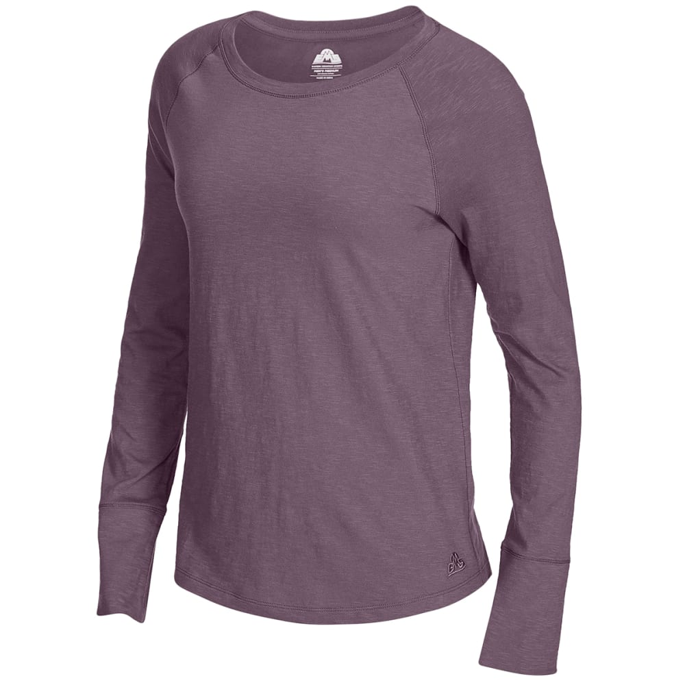 EMS Women's Solid Organic Slub Long-Sleeve Tee XL