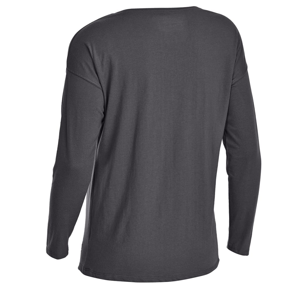 EMS Women's Scoop Knit Long-Sleeve Tee - FORGED IRON HEATHER