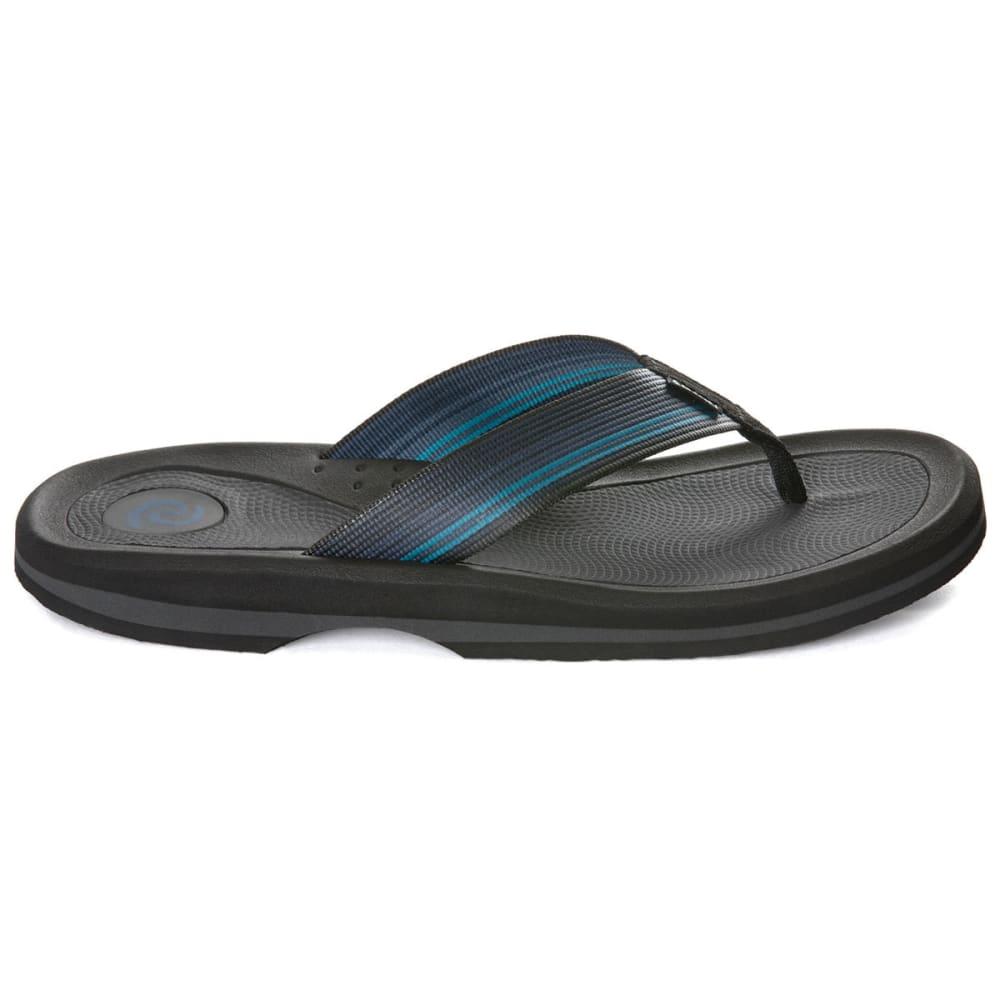 RAFTERS Men's Tsunami Stripe Flip Flops - BLUE MULTI-469