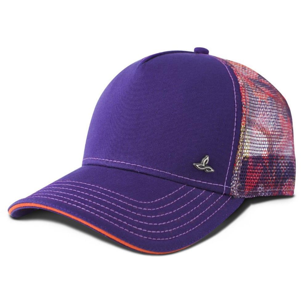 PRANA Women's Idalis Trucker Hat - DK PLUM DIGI FLOWER