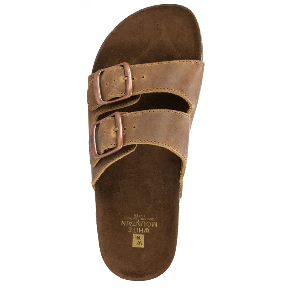 WHITE MOUNTAIN Women's Helga Double-Buckle Sandals - WHISKEY