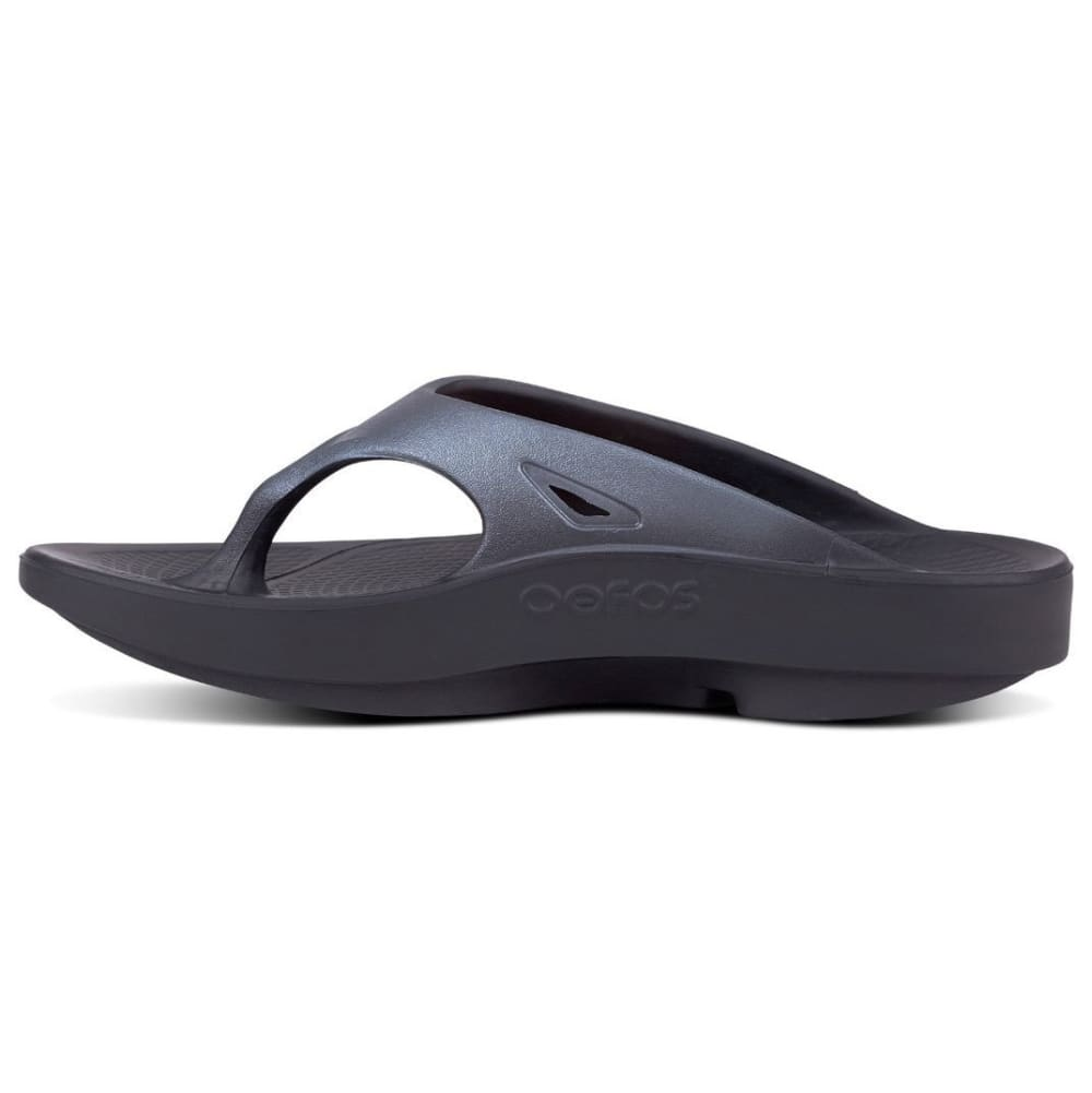 OOFOS Men's OOriginal Sport Flip Flop Sandals - BLACK/GRAPHITE