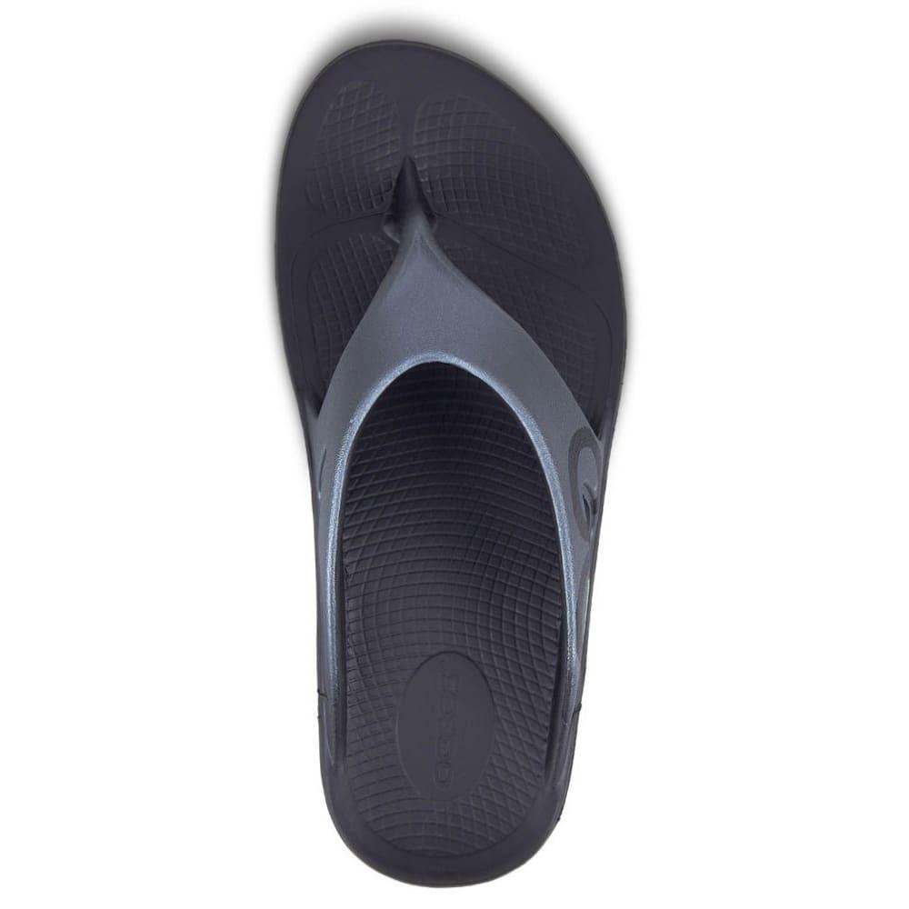 OOFOS Men's OOriginal Sport Flip Flop Sandals - BLACK/GRAPHITE