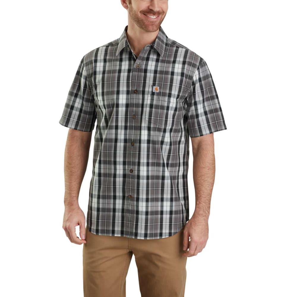 CARHARTT Men's Essential Plaid Open Collar Button Down Short-Sleeve Shirt S