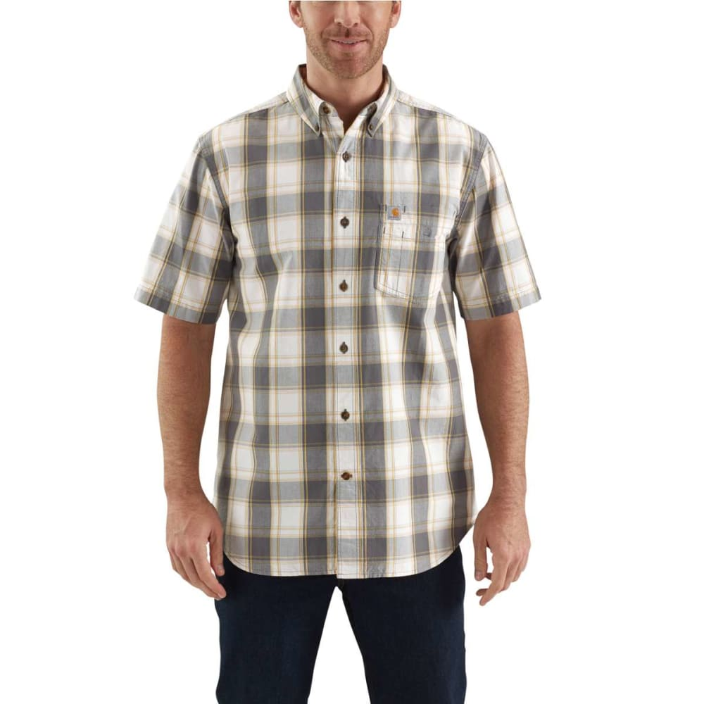 CARHARTT Men's Essential Plaid Button Down Short-Sleeve Shirt S