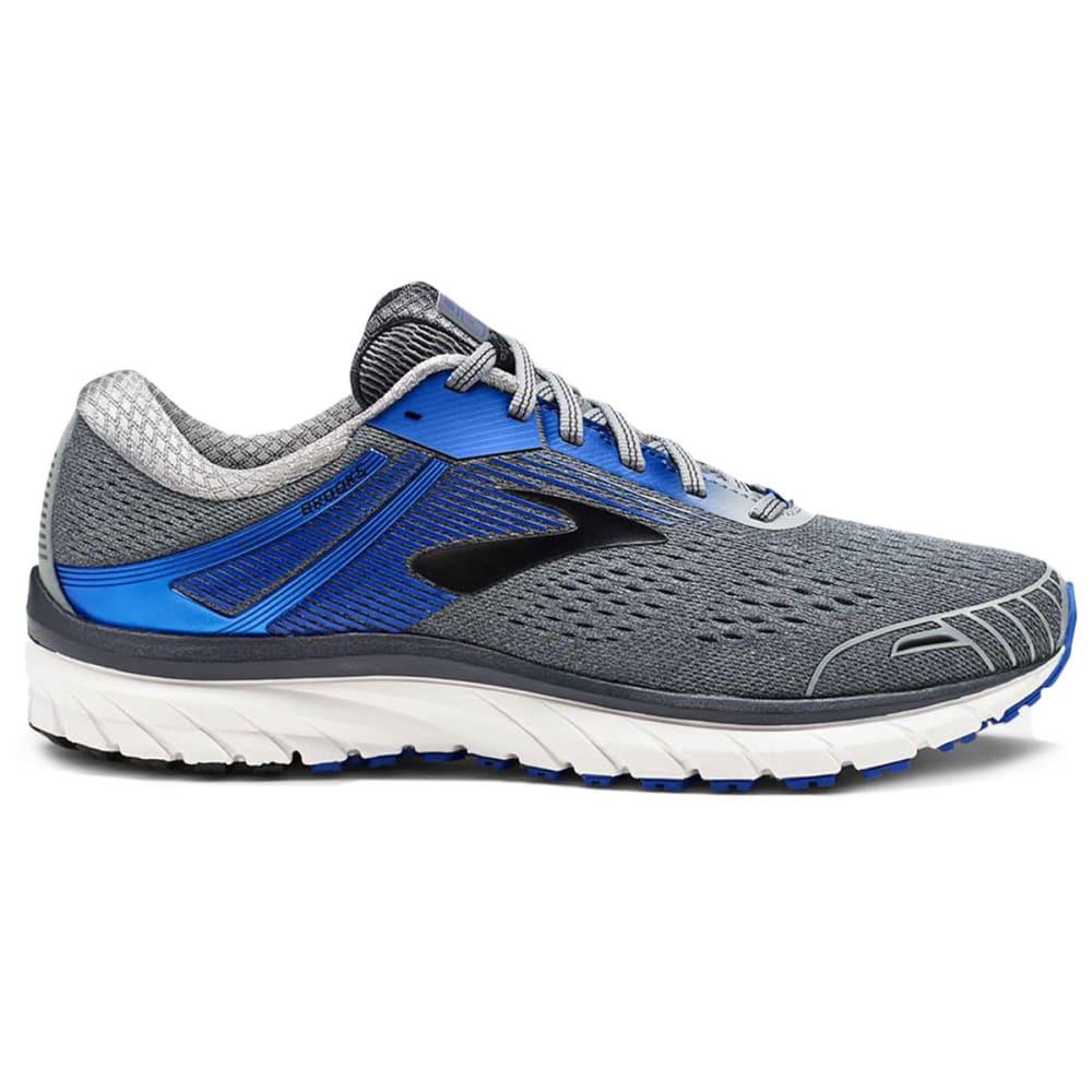 BROOKS Men's Adrenaline GTS 18 2E Running Shoes, Grey, Wide - GREY-015