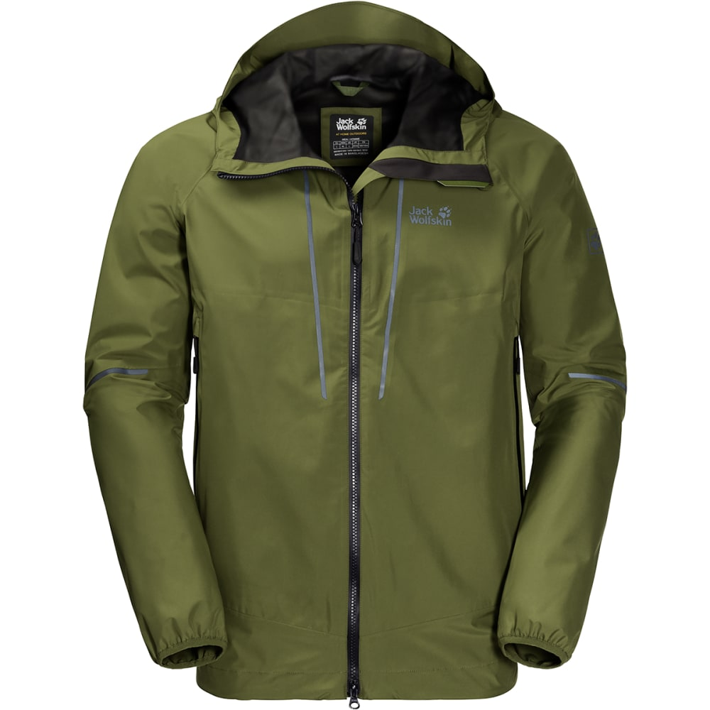 JACK WOLFSKIN Men's Sierra Trail Hardshell Jacket - 4521 CYPRESS GREEN