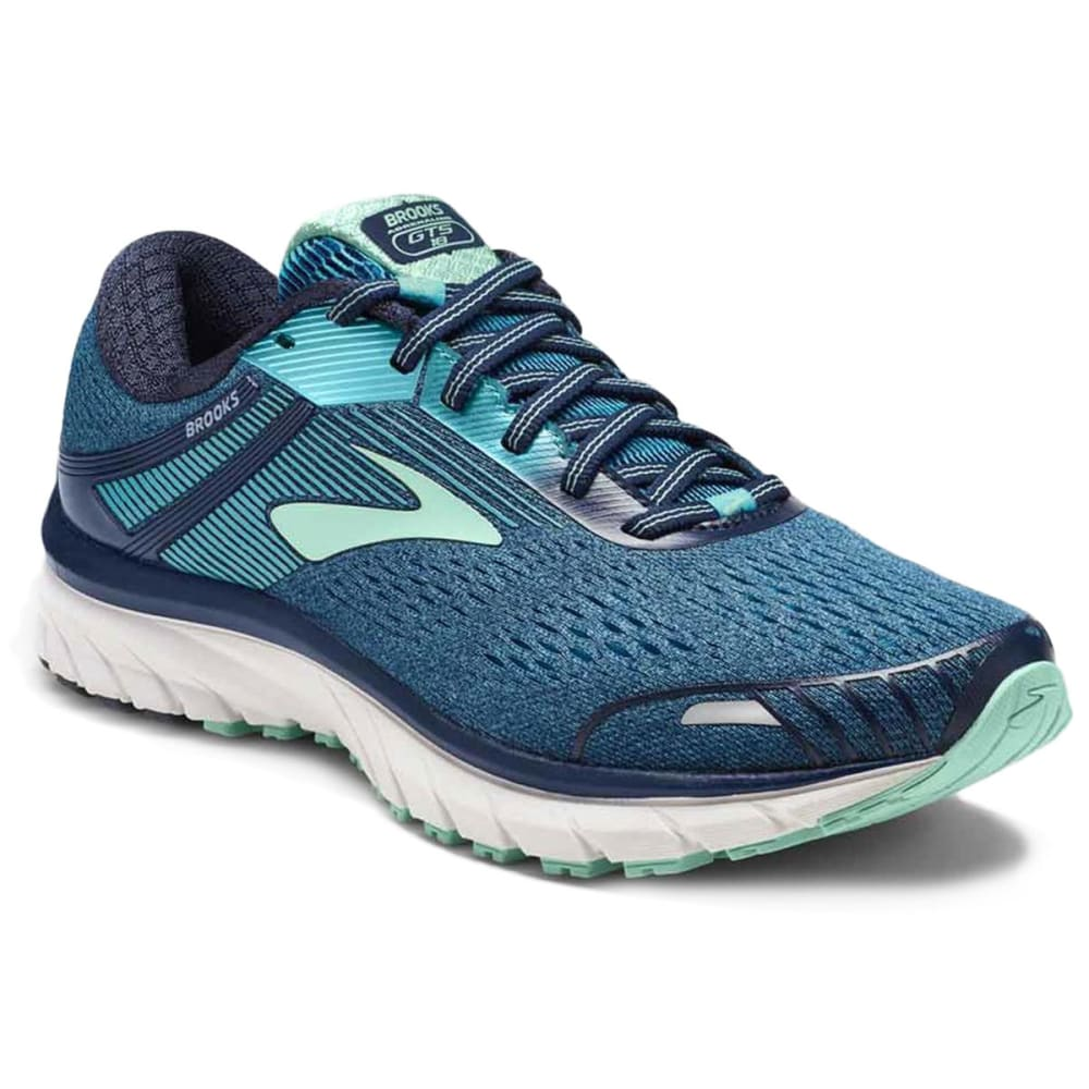 BROOKS Women's Adrenaline GTS 18 Running Shoes, Navy - NAVY-495