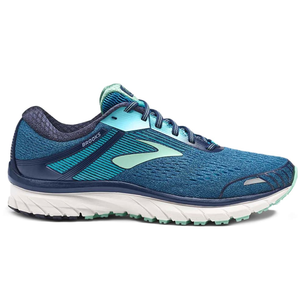 BROOKS Women's Adrenaline GTS 18 Running Shoes, Navy, Wide - NAVY-495