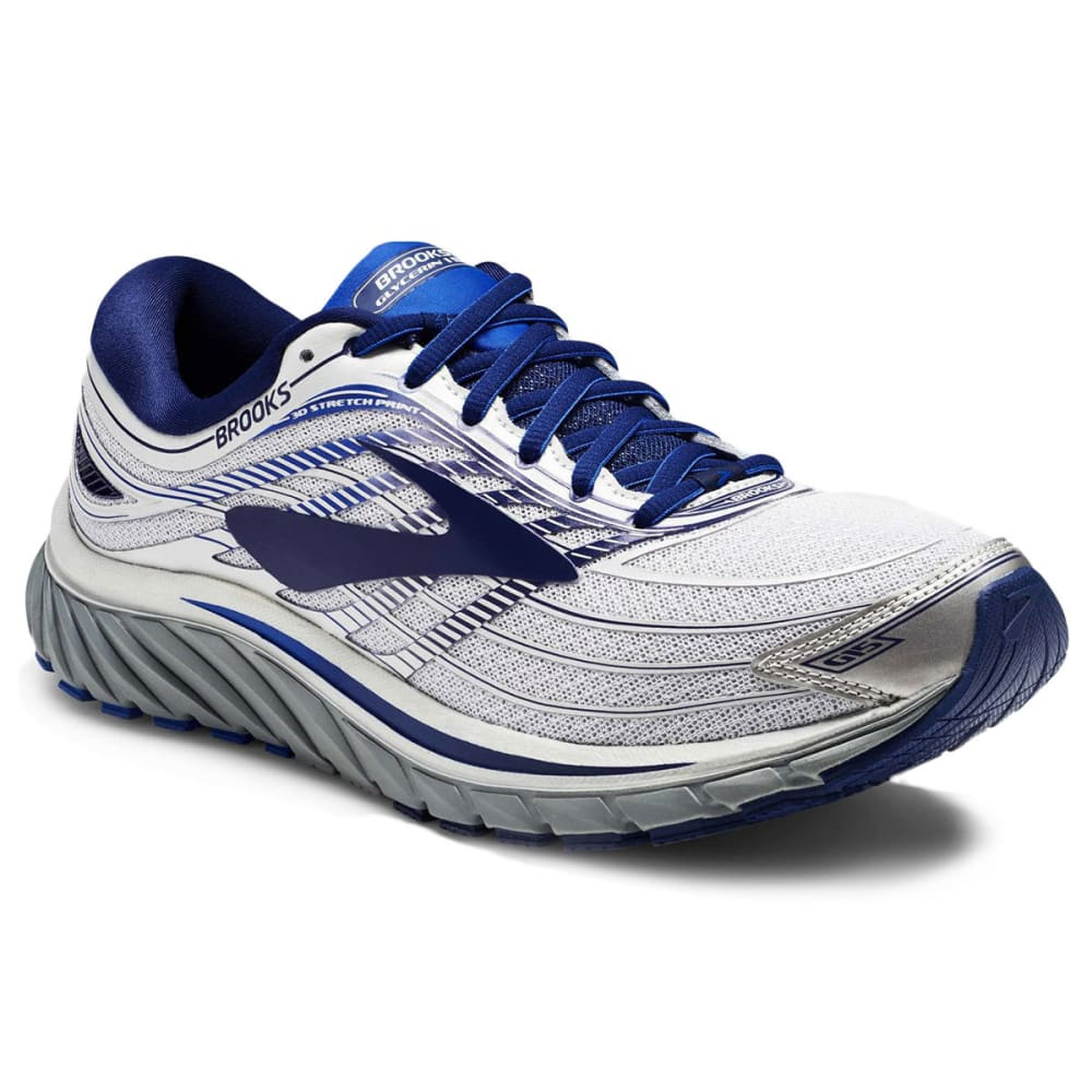 BROOKS Men's Glycerin 15 Running Shoes, Silver - SILVER-046