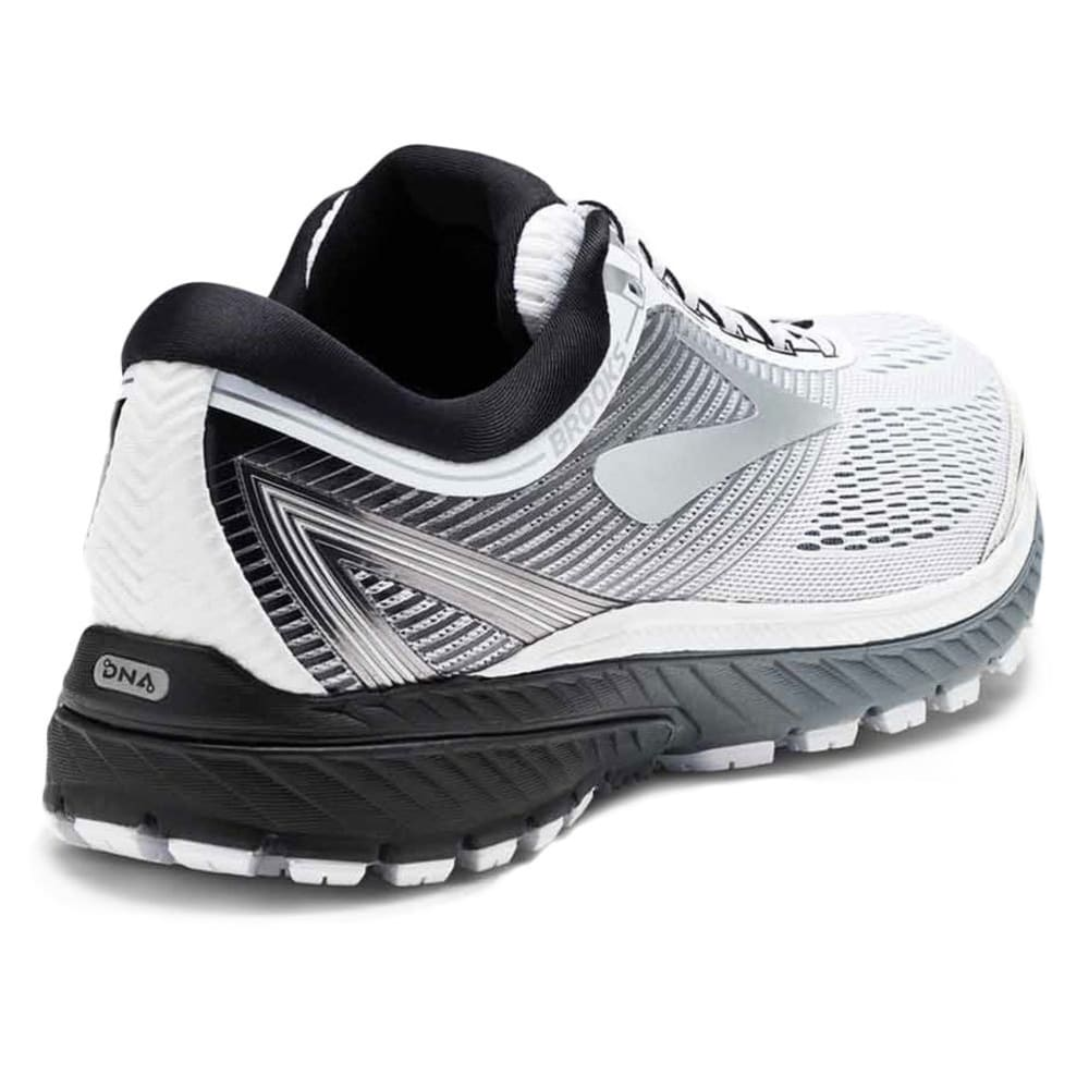 BROOKS Men's Ghost 10 Running Shoes, White - WHITE-167