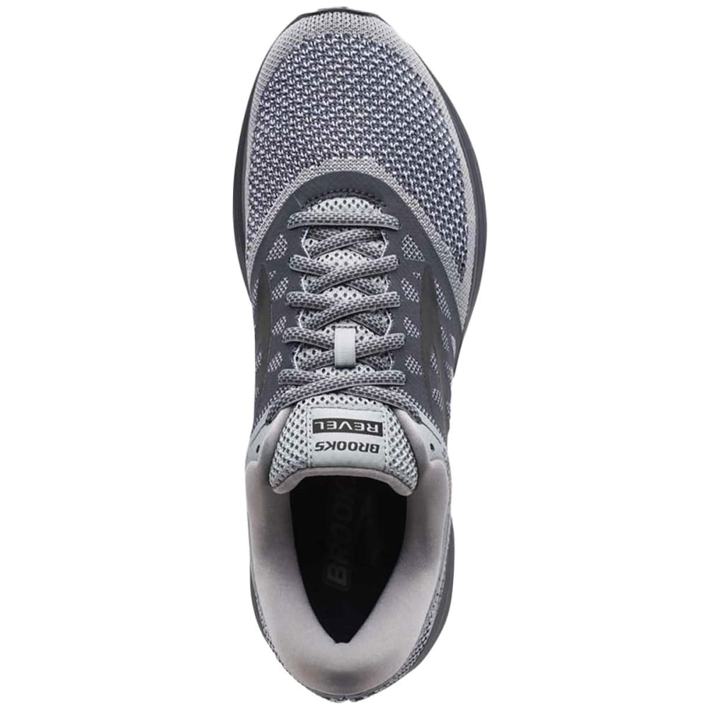 BROOKS Men's Revel Running Shoes, Grey - GREY-089
