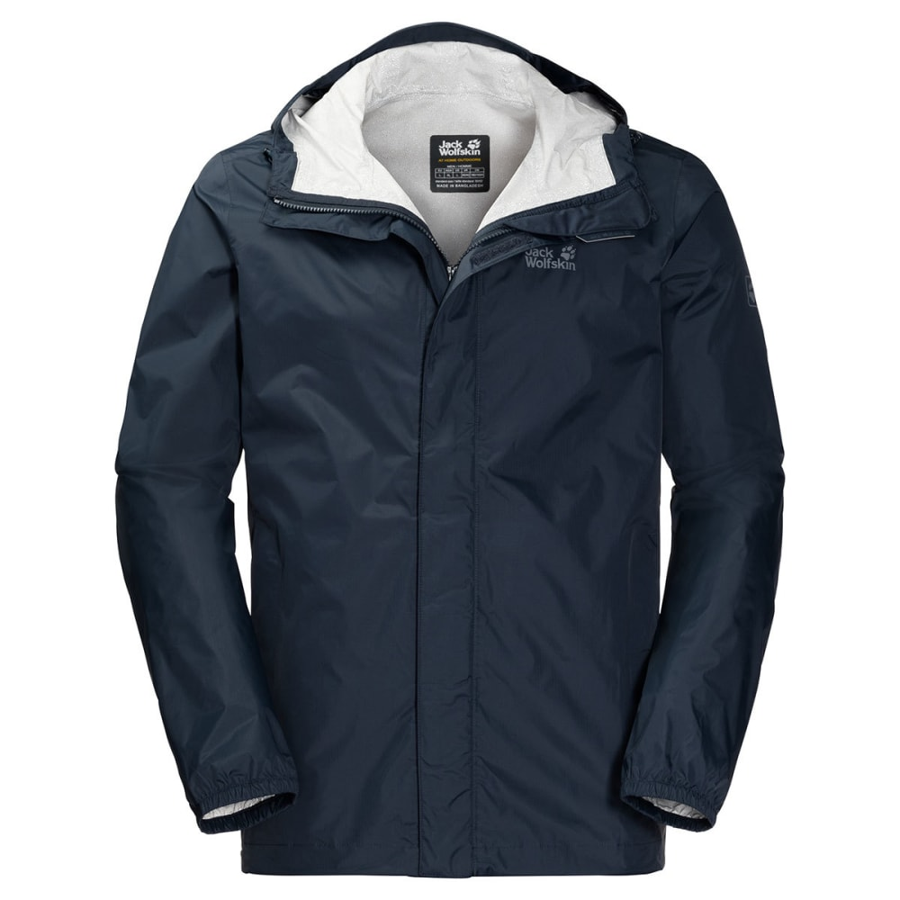 JACK WOLFSKIN Men's Cloudburst Hardshell Jacket - 1010 NIGHT BLUE