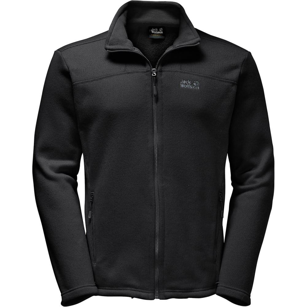 JACK WOLFSKIN Men's Castle Rock Fleece Jacket - 6000 BLACK
