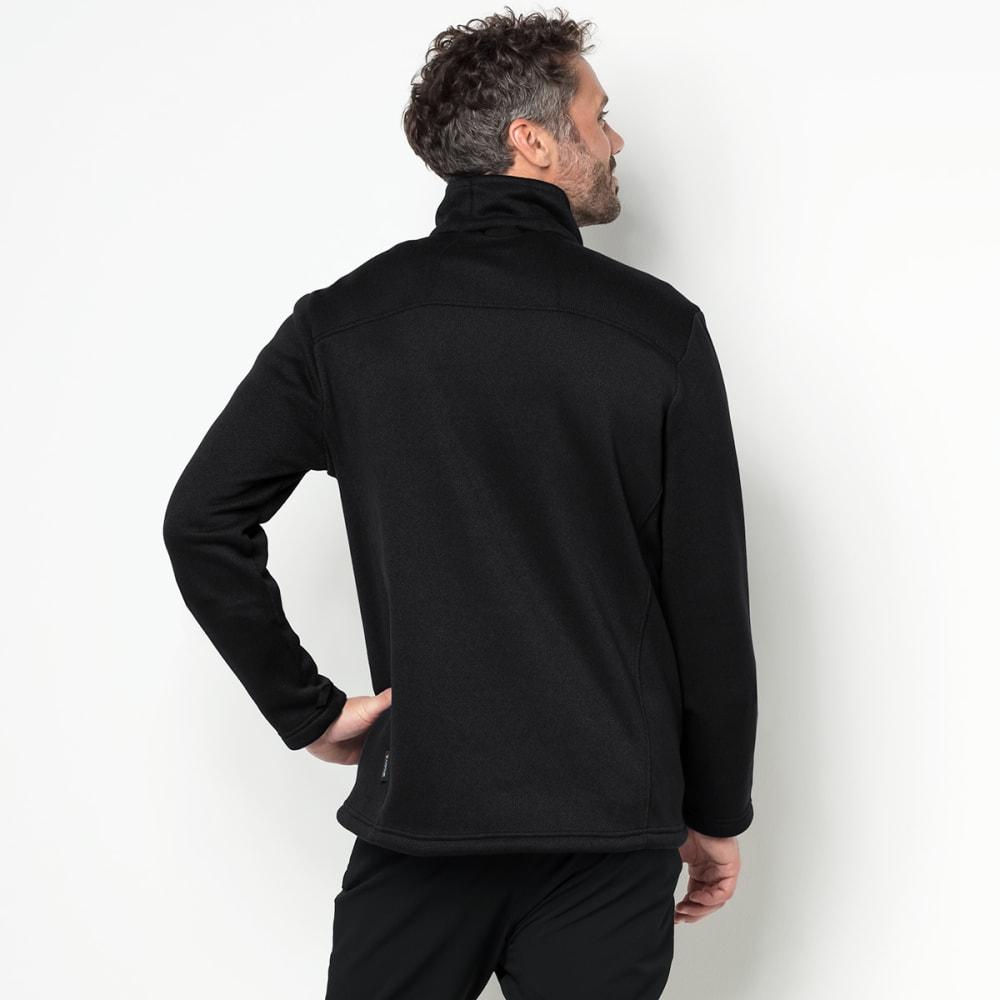 JACK WOLFSKIN Men's Castle Rock Fleece Jacket - 6000 BLACK