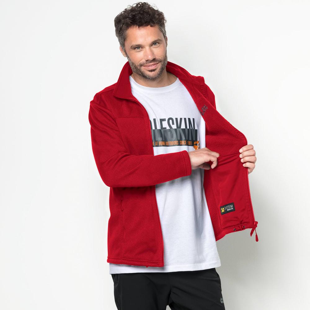 JACK WOLFSKIN Men's Castle Rock Fleece Jacket - 2505 RUBY RED