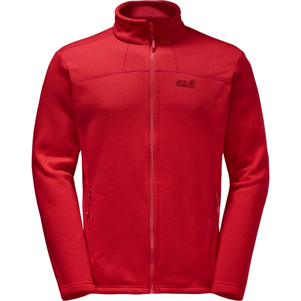 JACK WOLFSKIN Men's Castle Rock Fleece Jacket - 2505 RUBY RED