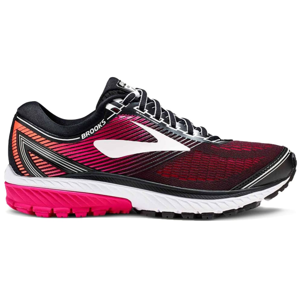 BROOKS Women's Ghost 10 Running Shoes, Black - BLACK - 067