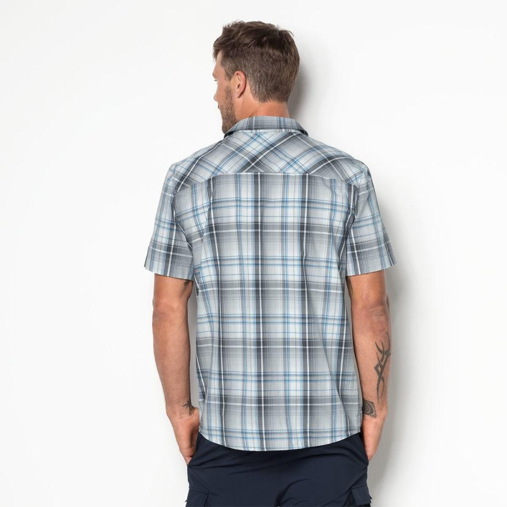 JACK WOLFSKIN Men's Hot Chili Short-Sleeve Shirt - 7659 DK IRON CHECKS