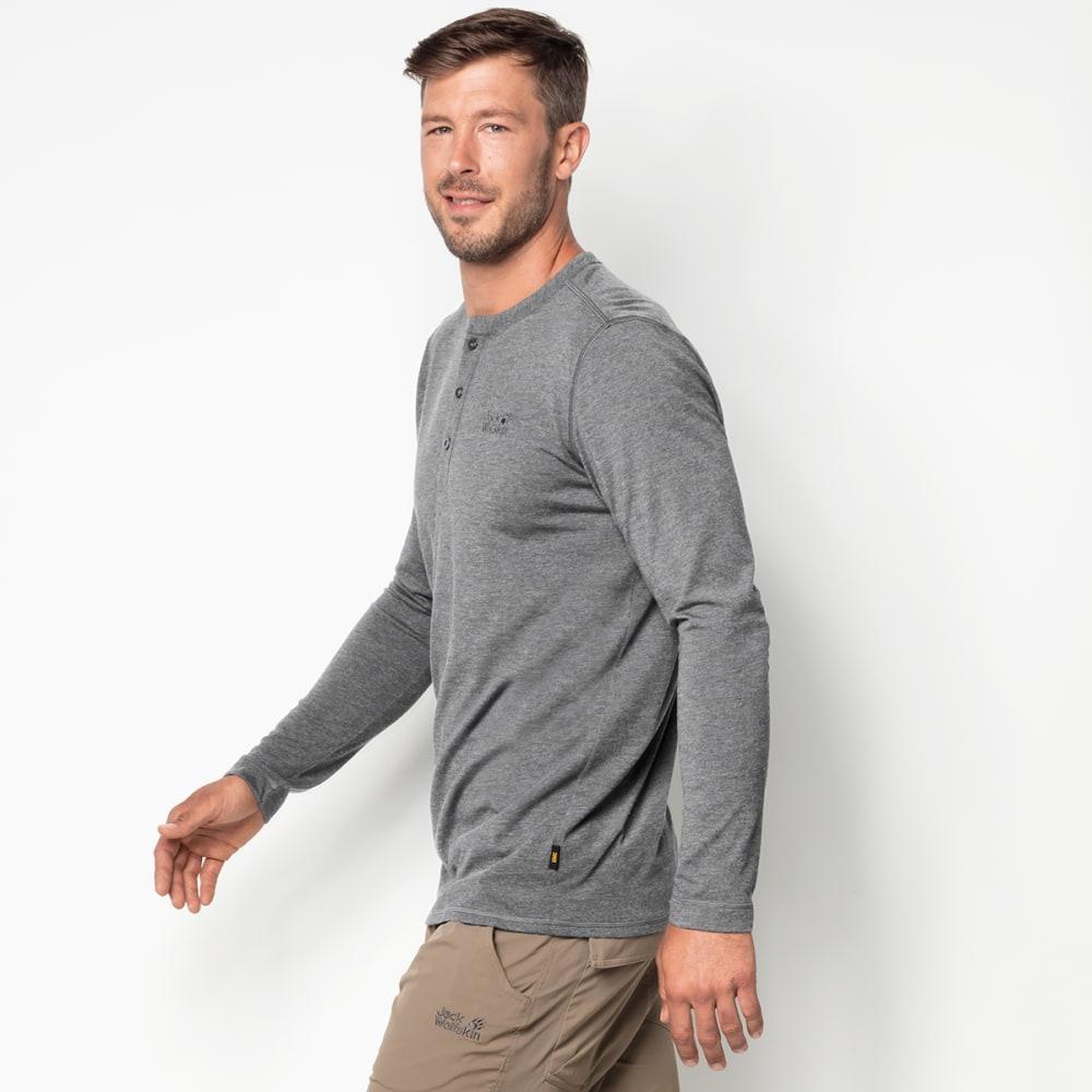 JACK WOLFSKIN Men's Moro Long-Sleeve Henley Shirt - 6038 ALLOY