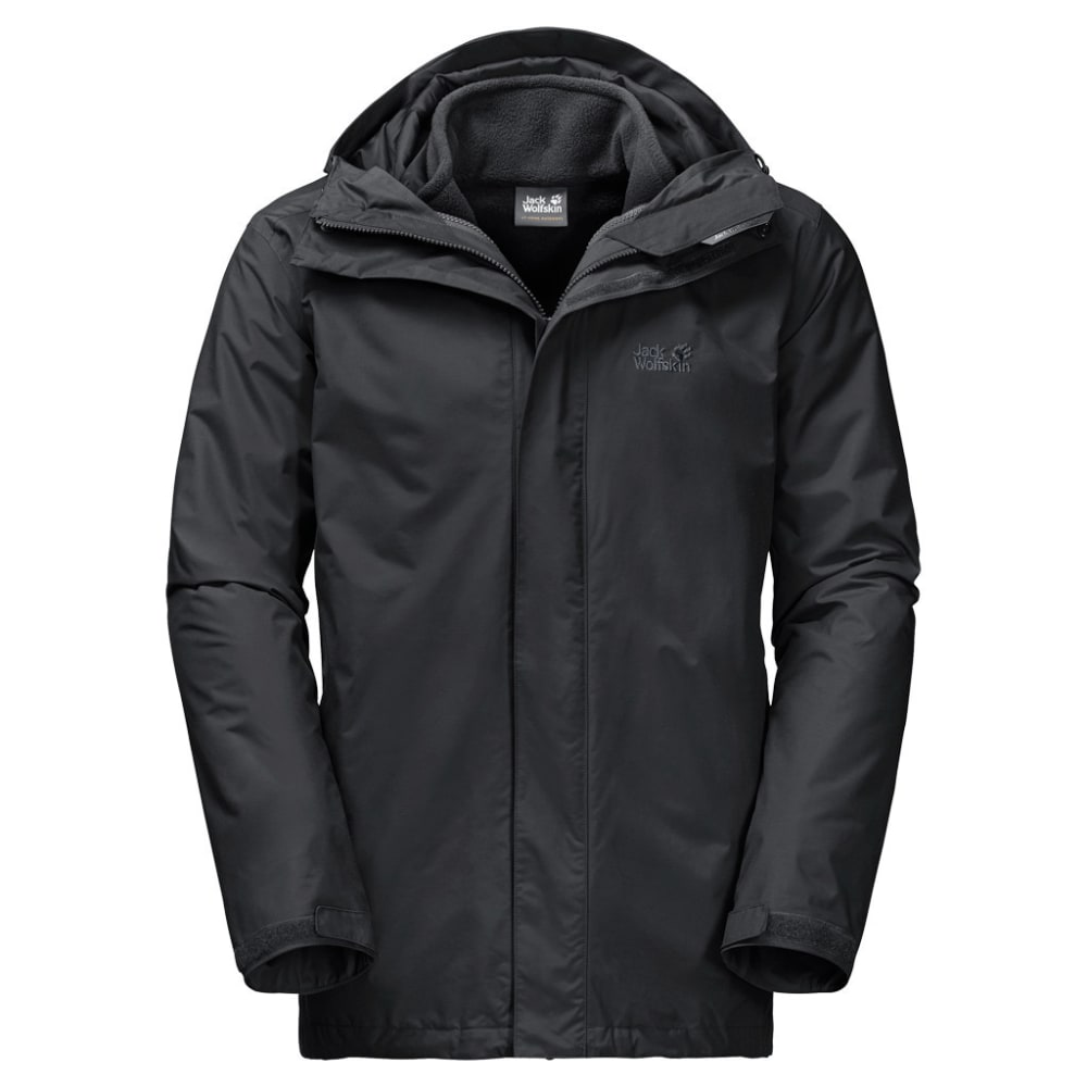 JACK WOLFSKIN Men's Iceland 3-in-1 Jacket - 6000 BLACK