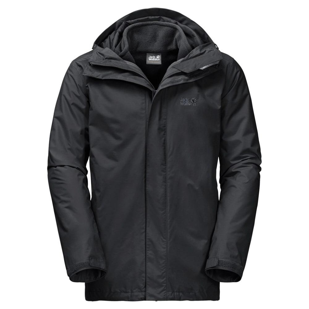 JACK WOLFSKIN Men's Iceland 3-in-1 Jacket - 6000 BLACK