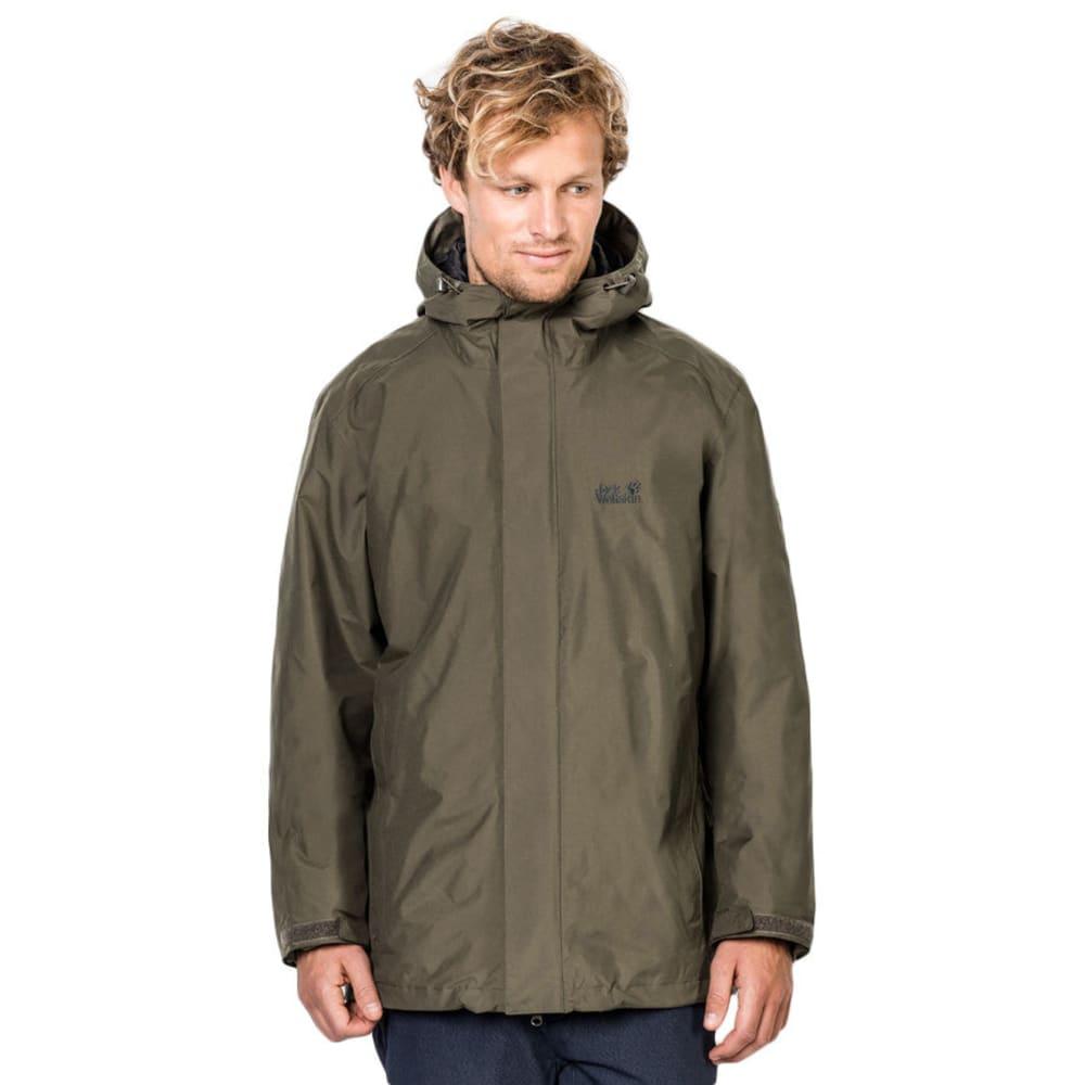 JACK WOLFSKIN Men's Iceland 3-in-1 Jacket - 4690 GRANITE