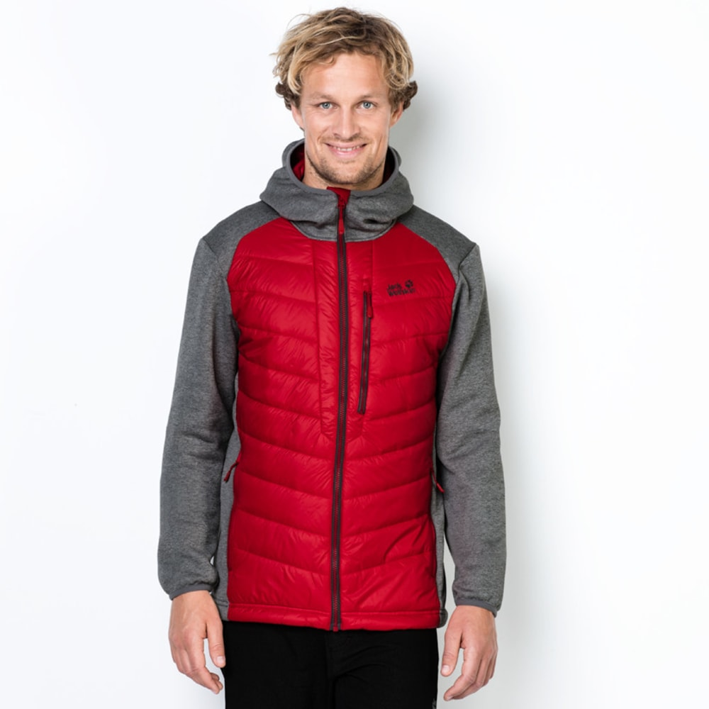 JACK WOLFSKIN Men's Skyland Crossing Jacket - 2505 RUBY RED