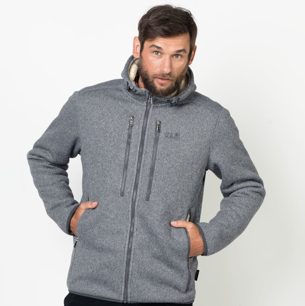 JACK WOLFSKIN Men's Robson Fleece Jacket - 6046 SLATE GREY