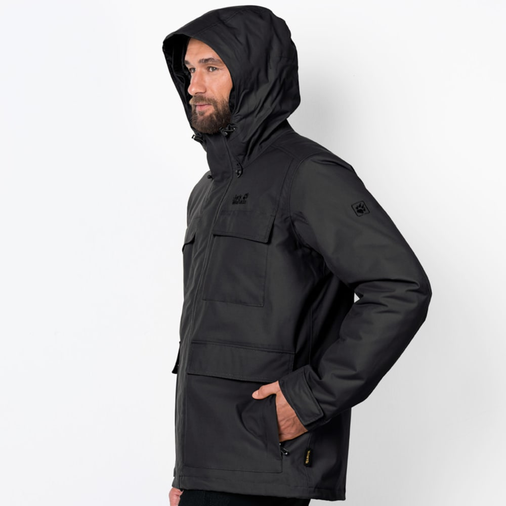 JACK WOLFSKIN Men's Point Barrow Jacket - 6000 BLACK
