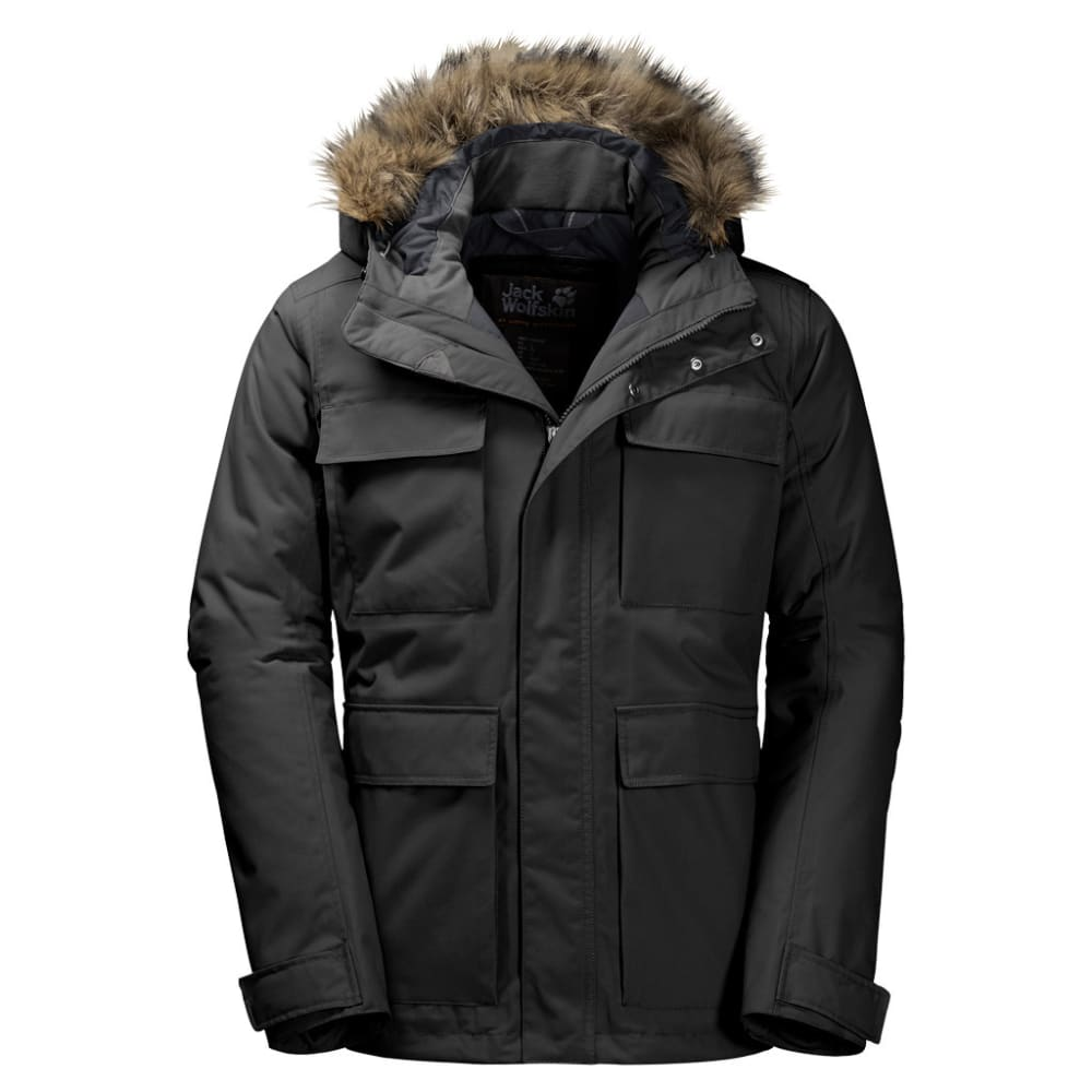 JACK WOLFSKIN Men's Point Barrow Jacket - 6000 BLACK