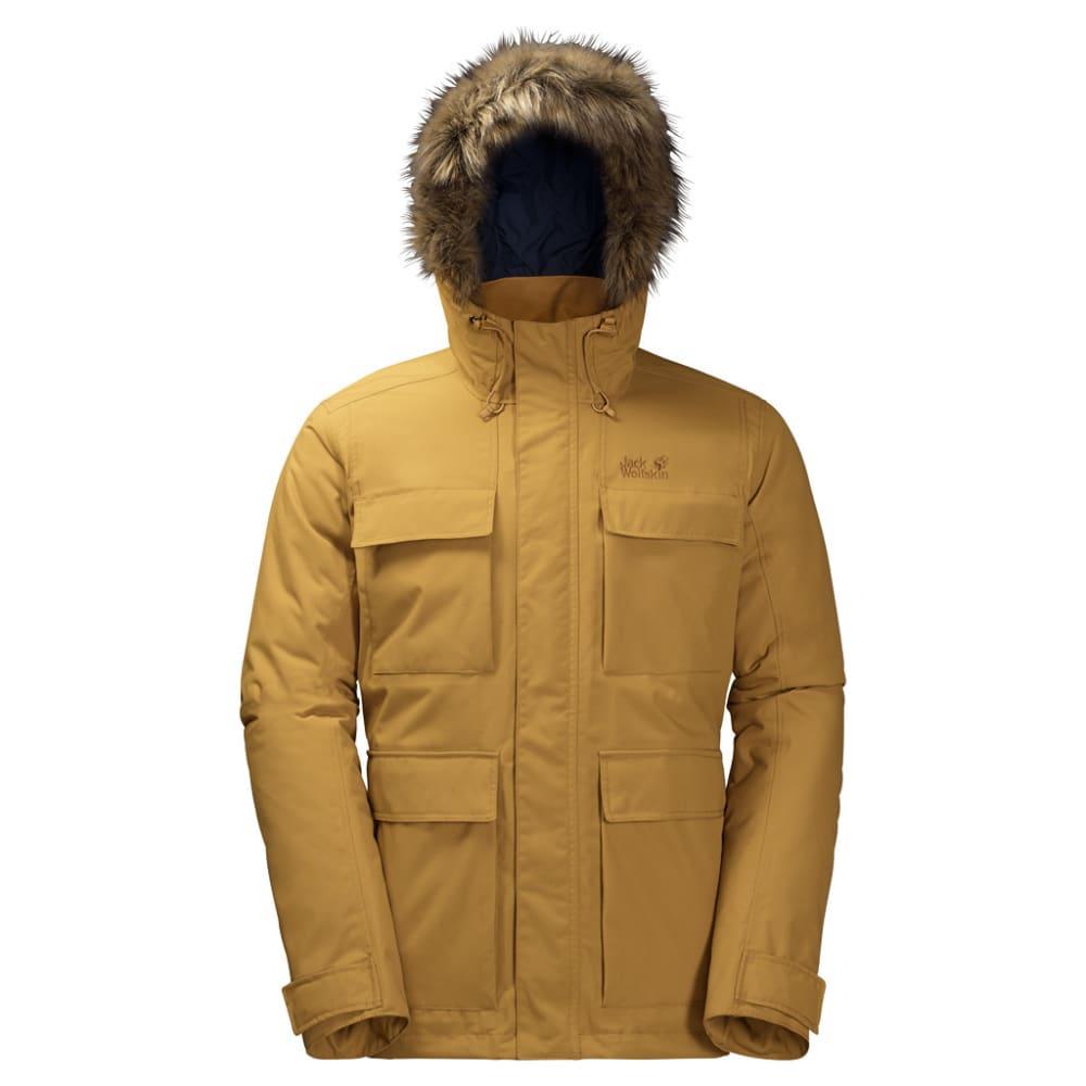 JACK WOLFSKIN Men's Point Barrow Jacket - 5205 GOLDEN AMBER