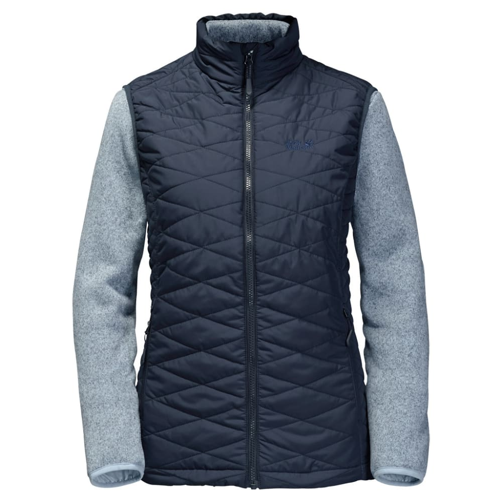 JACK WOLFSKIN Women's Caribou Glen 3-in-1 Vest and Fleece Set - 1010 NIGHT BLUE