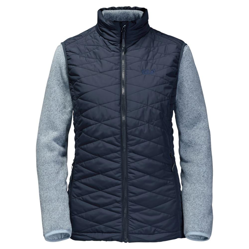JACK WOLFSKIN Women's Caribou Glen 3-in-1 Vest and Fleece Set - 1010 NIGHT BLUE