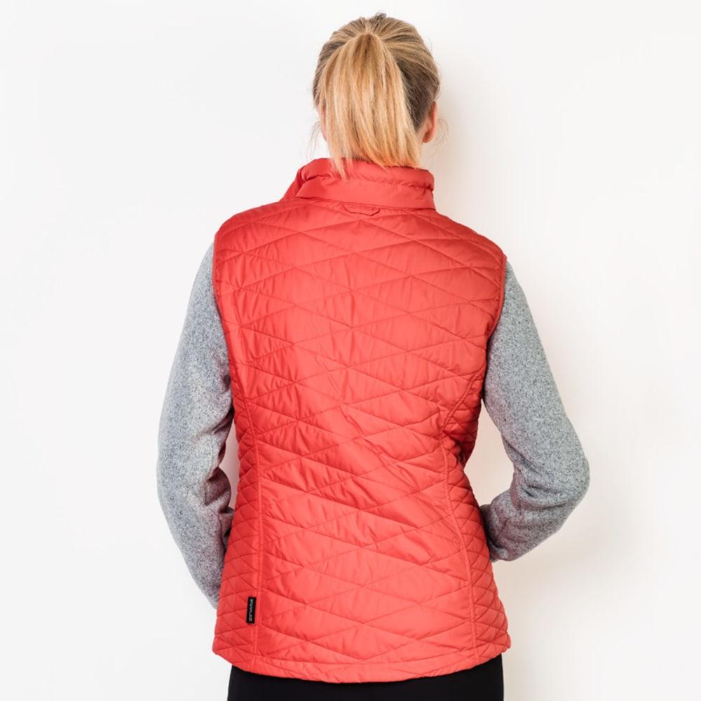 JACK WOLFSKIN Women's Caribou Glen 3-in-1 Vest and Fleece Set - 2043 HOT CORAL