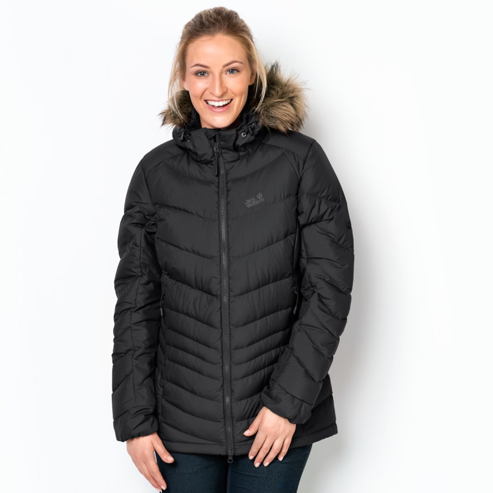 JACK WOLFSKIN Women's Selenium Bay Down Jacket - 6000 BLACK
