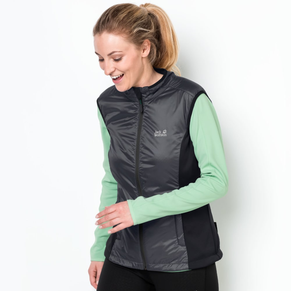JACK WOLFSKIN Women's Air Lock Vest - 6230 EBONY
