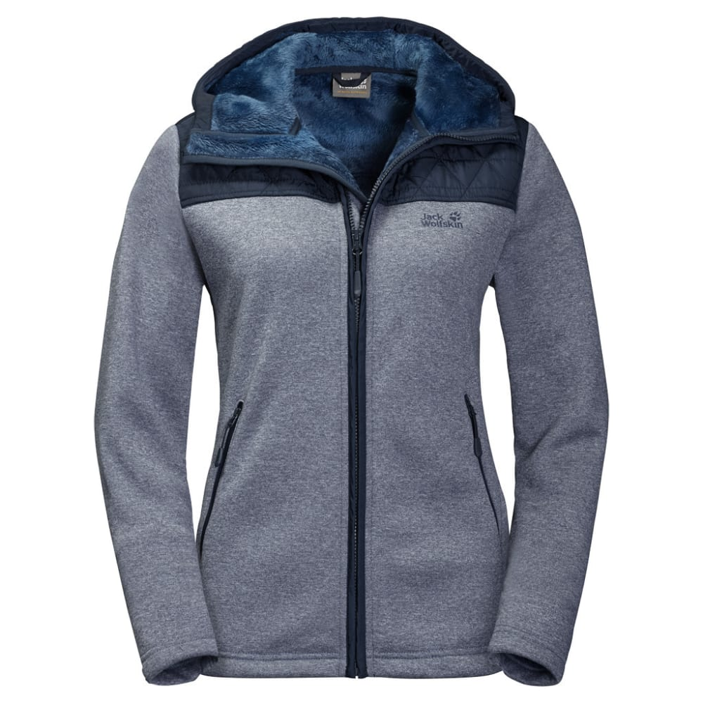 JACK WOLFSKIN Women's Pacific Sky Fleece Jacket - 1910 MIDNIGHT BLUE