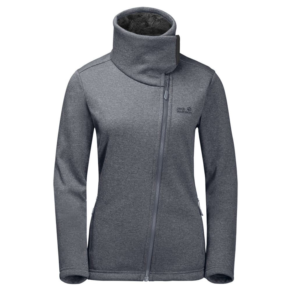 JACK WOLFSKIN Women's Atlantic Sky Fleece Jacket - 6505 PEBBLE GREY