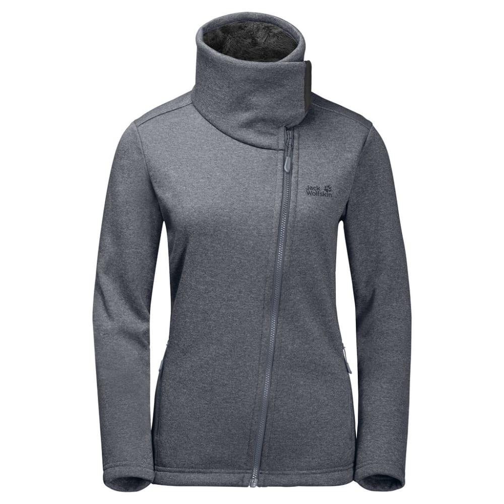 JACK WOLFSKIN Women's Atlantic Sky Fleece Jacket - 6505 PEBBLE GREY